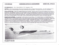 1/144 Scale Decal Hawaiian Air DC9-10 / 30 / 50 / MD-80