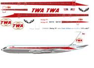 1/144 Scale Decal TWA 707-320 Twin Globe