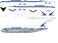 1/144 Scale Decal Air France / TAT F-28