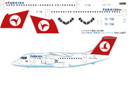 1/144 Scale Decal Turkish BAe-146-100