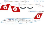1/144 Scale Decal Turkish BAe-146-300