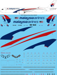 1/144 Scale Decal Malaysia Airlines A350-900