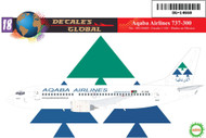 1/144 Scale Decal Aqaba Airlines 737-300