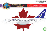 1/144 Scale Decal CanJet 737-200