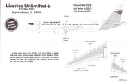 1/144 Scale Decal Air Inter A-320