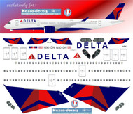 1/144 Scale Decal Delta A-350