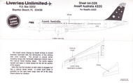 1/144 Scale Decal Ansett Australia A-320