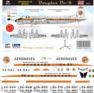 1/72 Scale Decal Aeronaves de Mexico DC-6