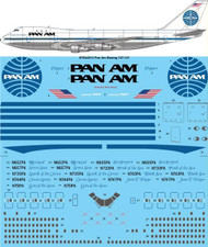 1/144 Scale Decal Pan Am 747-100 Late Livery