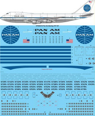 1/144 Scale Decal Pan Am 747-100 Delivery