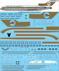 1/144 Scale Decal Libyan Arab Airlines 727-200