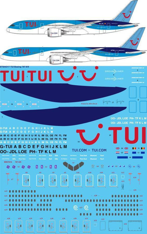 1/144 Scale Decal TUI 787-8 / 9