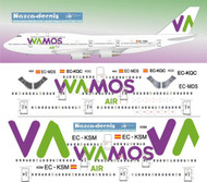 1/144 Scale Decal Wamos 747-400