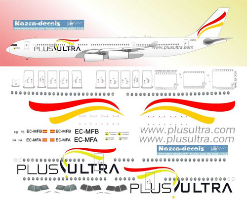 1/144 Scale Decal Plus Ultra A-340