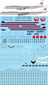 1/144 Scale Decal JAL Japan Air Lines DC-8