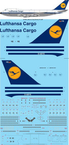 1/144 Scale Decal Lufthansa Cargo 747-230F