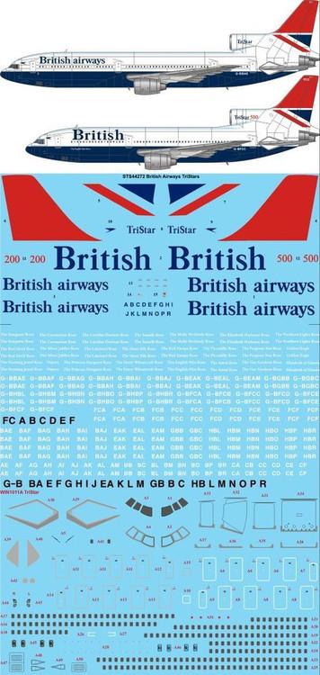 1/144 Scale Decal British Airways L-1011 Negus & Negus