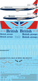 1/144 Scale Decal British Airways L-1011 Negus & Negus