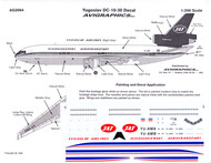 1/200 Scale Decal JAT Yugoslav DC10-30