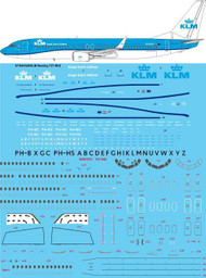 1/144 Scale Decal KLM 737-800