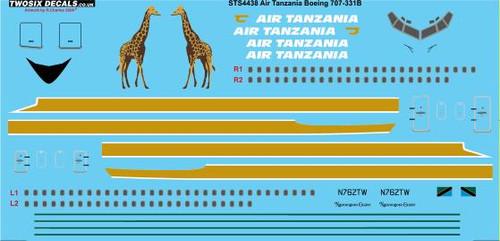 1/144 Scale Decal Air Tanzania 707-331B