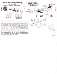 1/144 Scale Decal Midway F-100