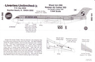 1/144 Scale Decal Korean Air F-100