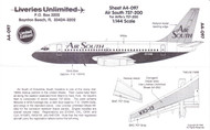 1/144 Scale Decal Air South 737-200