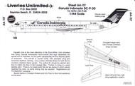 1/144 Scale Decal Garuda International DC9-30