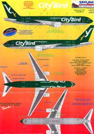 1/200 Scale Decal City Bird 767