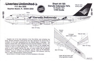 1/144 Scale Decal Garud International 747