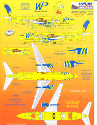 1/144 Scale Decal Western Pacific 737-300 THE SIMPSONS