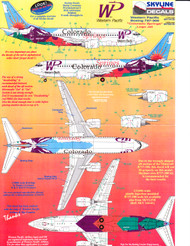 1/144 Scale Decal Western Pacific 737-300 COLORADO SPRINGS