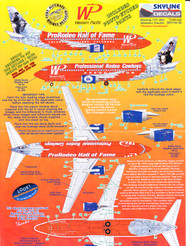 1/144 Scale Decal Western Pacific 737-300 RODEO HALL OF FAME