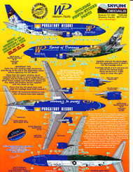 1/144 Scale Decal Western Pacific 737-300 PURGATORY RESORT