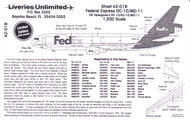 1/200 Scale Decal FedEx DC-10 / MD-11