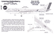 1/144 Scale Decal Asiana 747-400