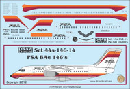 1/144 Scale Decal PSA BAe-146