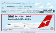 1/144 Scale Decal QantasLink BAe-146