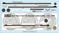 1/144 Scale Decal Perdue University 727-100
