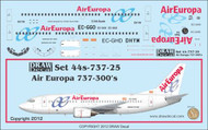 1/144 Scale Decal Air Europa 737-300
