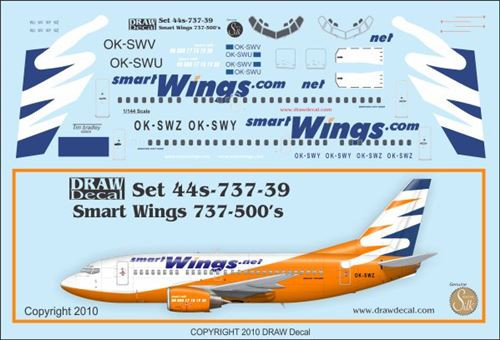 1/144 Scale Decal Smartwings 737-500