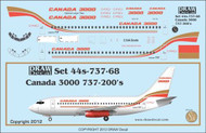 1/144 Scale Decal Canada 3000 737-200