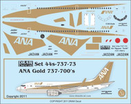 1/144 Scale Decal ANA 737-700 Gold
