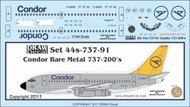 1/144 Scale Decal Condor 737-200 Bare Metal