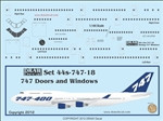 1/144 Scale Decal Detail Sheet 747