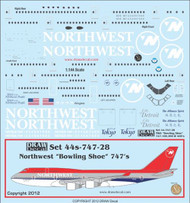 1/144 Scale Decal Norhtwest 747-100 / 200 / 400