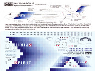 1/144 Scale Decal Spirit Airlines MD-80