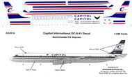 1/200 Scale Decal Capitol International DC8-61