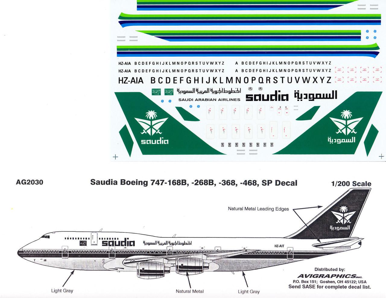 Saudi Arabian Airlines Decal//sticker